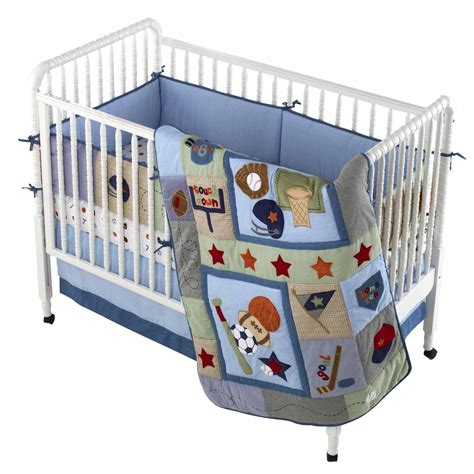 Lambs Ivy Little Sports 4pc Crib Bedding Set Crib Sports Bedding