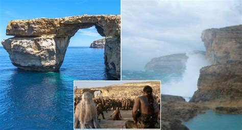 azure window collapse world famous malta rock formation and game of thrones