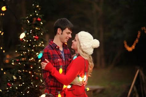 holiday inspired engagement photos huffpost