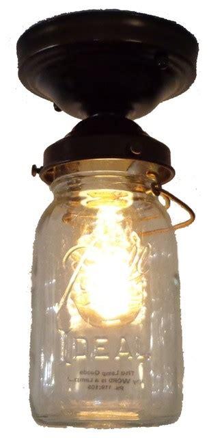 jar flush mount light jar ceiling light vintage quart single