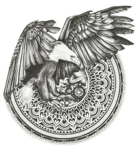 mandala eagle tattoo 17 best images about mandala illustrations on pinterest