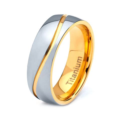 mens titanium wedding band ring mm   sizes