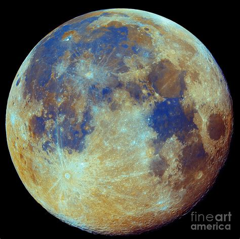color of the moon colored moon geological differences photograph by filipe