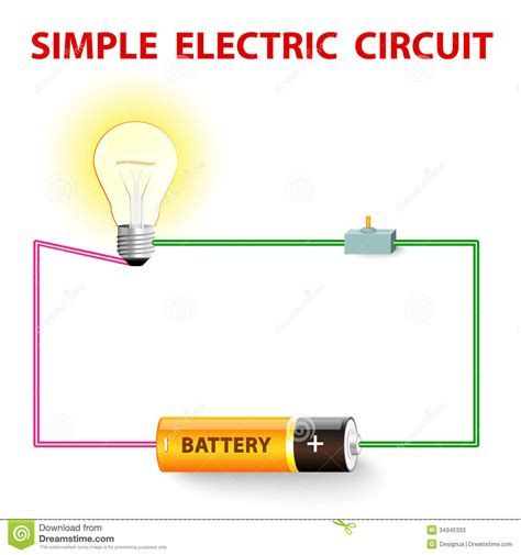 how to make a electric circuit with switch a simple electric circuit stock photos image 34345333