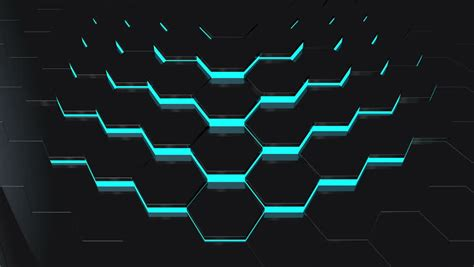 Lights That Change Color With Music 3d Rendered Colorful Hexagon Lights Shining Over Black
