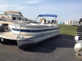 harris pontoon boat bimini top harris 260royal pontoon boats used in pewaukee wi 53072
