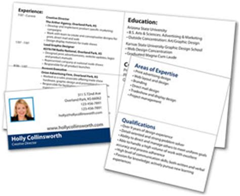 Resume Business Card Template by Mini Resume And Custom Portable Pocket Resume