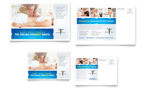 reflexology massage postcard template word publisher