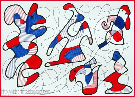 6 Drawing Lessons by Artists In The Style Of Jean Dubuffet