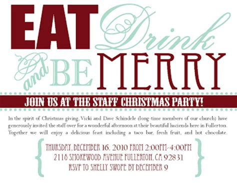 beganwithabow staff christmas invitation
