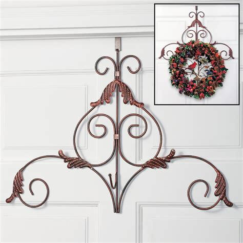 decorative scroll metal holiday wreath hanger fall harvest