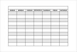 Weekly Schedule Template Pdf by Employee Shift Schedule Template 8 Free Word Excel