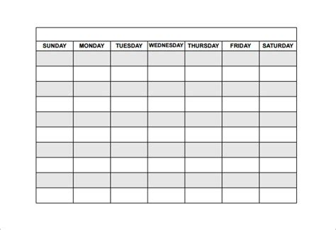 free scheduling calendar template search results for monthly employee schedule template