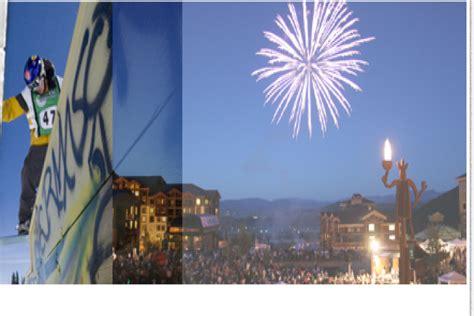 utah fireworks new year new years at the canyons ski utah