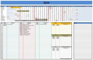 Excel Calendar Templates Free by Excel Calendar Templates Cyberuse
