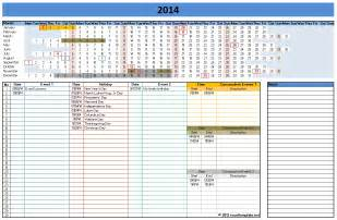 Monthly Calendar Excel Template 2014 by 2014 Calendar Templates Microsoft And Open Office Templates