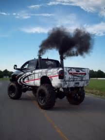 dodge cummins big black smoke diesels trucks black
