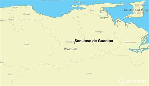 san jose in world map where is san jose de guanipa where is san