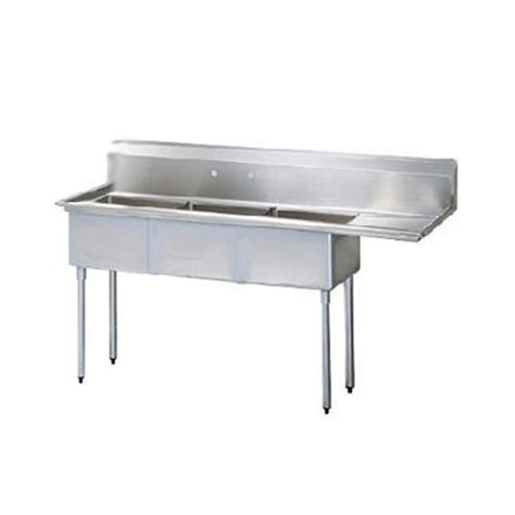 turbo air tsb 3 r2 98 1 2 in three compartment sink