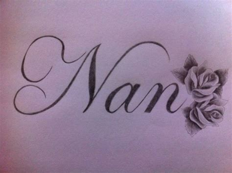 nan tattoo writing tattoos gallery pinteres