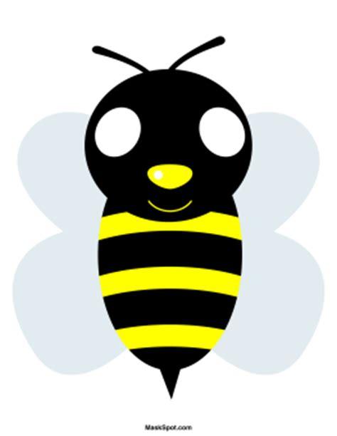 printable bee mask template printable bee mask