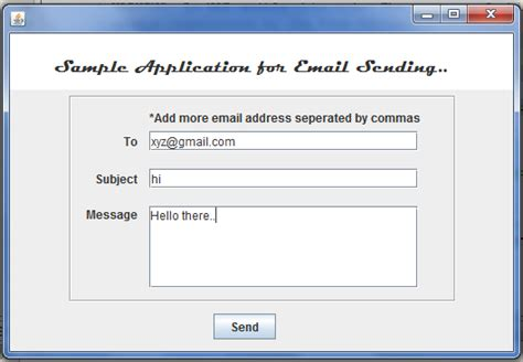 email template java java source code how to send email in java swings