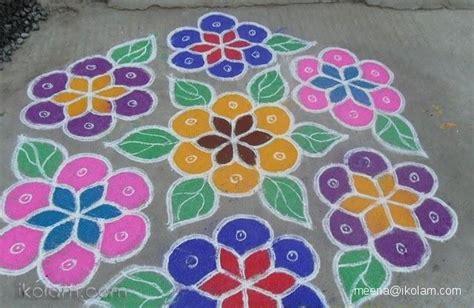 new design flower kolam with dots rangoli poo kolam regular www ikolam com