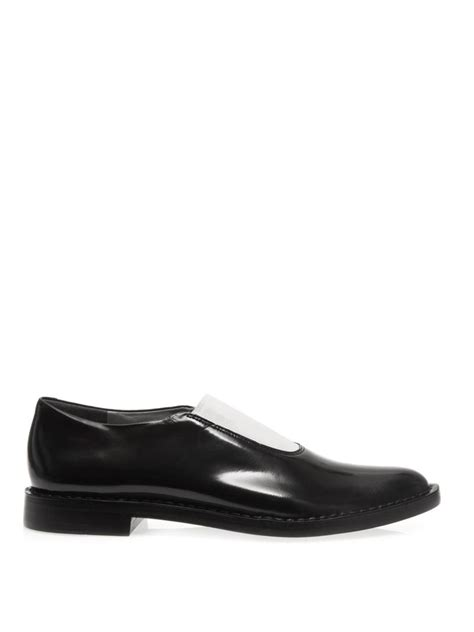 wang loafers wang darla elasticated front leather loafers in