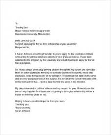 Scholarship Application Letter Uk Scholarship Application Letterdoc