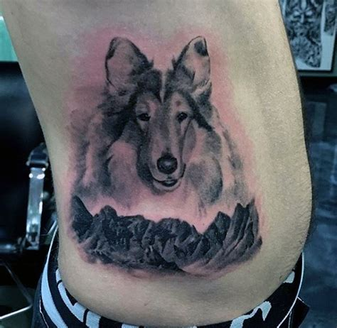 dog tattoo on ribs 100 dog tattoos for men canine ink design ideas part two