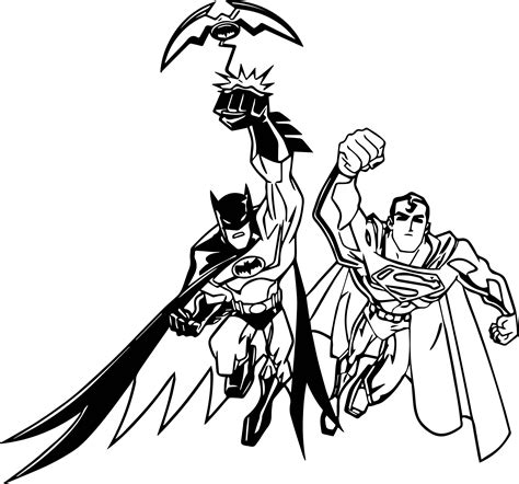 coloring pages of batman and superman superman and batman cartoon coloring page wecoloringpage