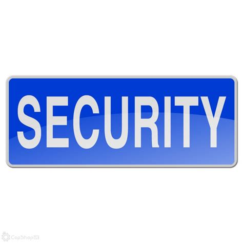 Reflective Sew On Badge   SECURITY : CopShopUK