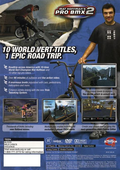 Mat Hoffman Pro Bmx 2 Cheats by Mat Hoffman S Pro Bmx 2 Box For Playstation 2 Gamefaqs