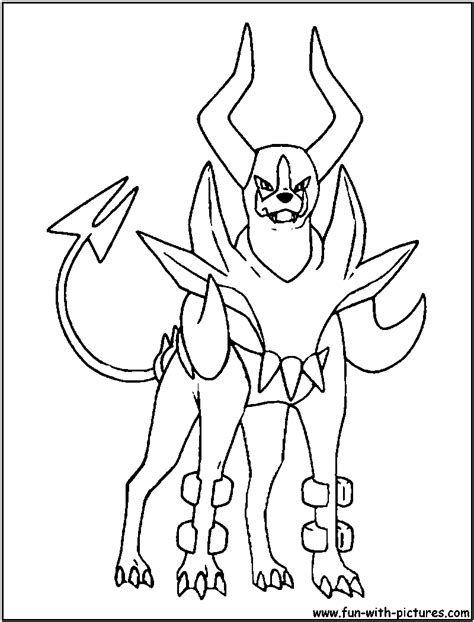 pokemon coloring pages houndoom mega evolution pokemon coloring pages