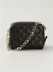 moncler small quilted leather shoulder bag in black lyst