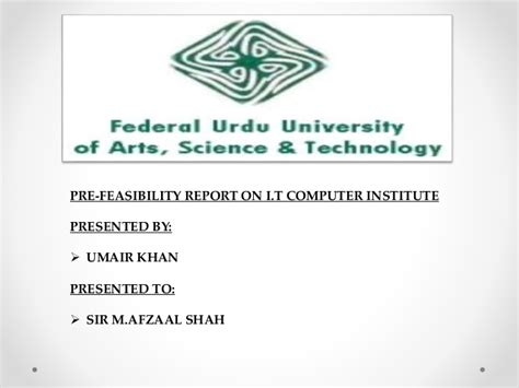 smeda pakistan feasibility report templates pre feasibility report on computer institute i t smeda