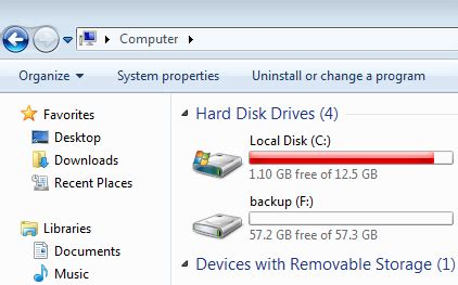 drive c suddenly full c drive is full or out of space in windows 7 32 64 bit