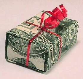 How To Make A Money Box With Paper - how to make a gift box from a dollar bill dollar bills
