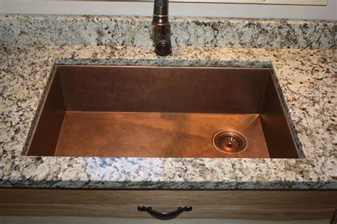 Undermount hammered copper sink photo gallery of installed copper and