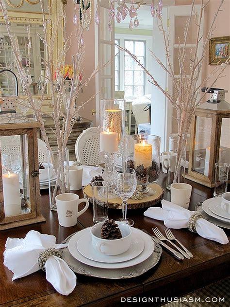 winter table a winter white tablescape
