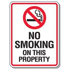 no smoking sign california no smoking signs no smoking on this property from seton