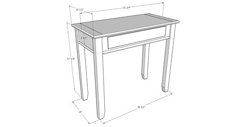 sketchup layout table hall table in ambrosia maple diary of a wood nerd
