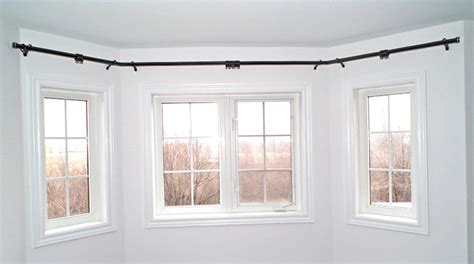 large bay window curtain rods large bay window curtain rods home design ideas