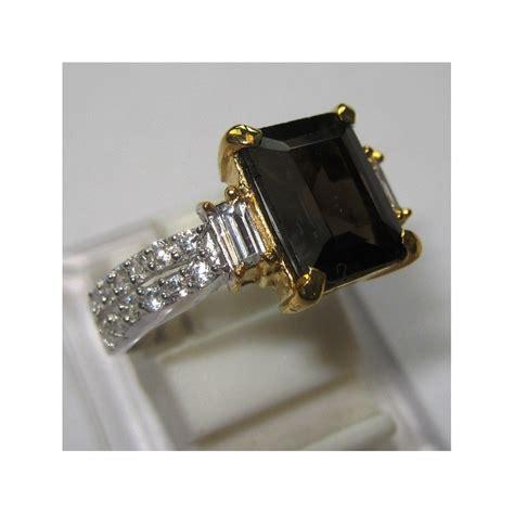 cincin silver wanita smokey quartz 1 41 carat ring 7us