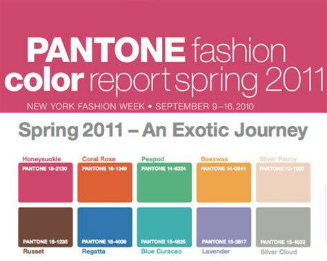 2011 colour trends trends spring summer fashion week s s 2011 pantone