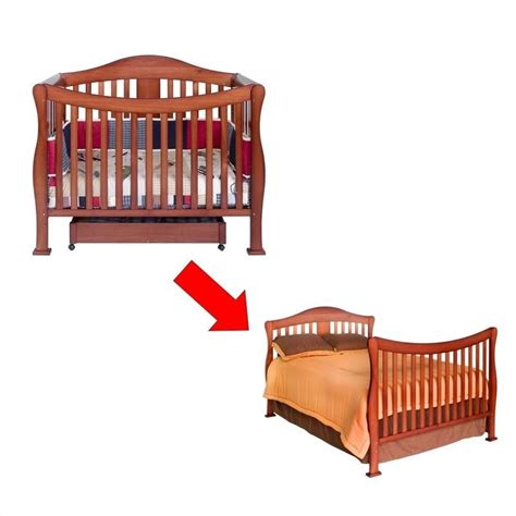 Convertible Crib Bed Davinci 4 In 1 Convertible Crib With Bed Rails In Cherry K5101c K4799cx Pkg