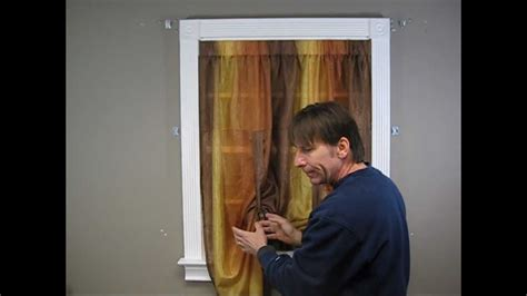 how to put curtains up how to install a tie up curtain doovi