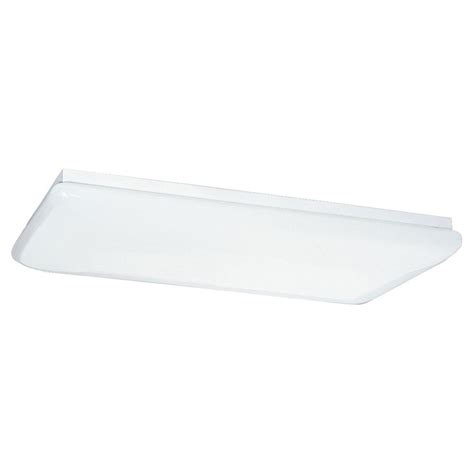 4 Light Ceiling Fixture Sea Gull Lighting 4 Light White Fluorescent Ceiling Fixture 59271le 15 The Home Depot