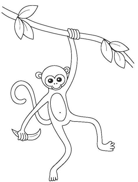 how to draw a monkey swinging on a vine pin by finley kimmie on kids coloring pages pinterest