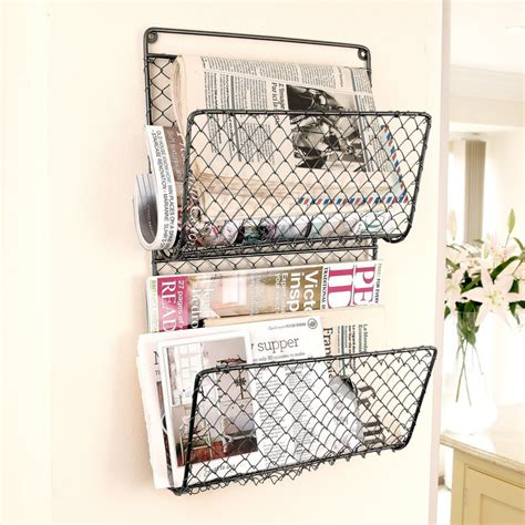 Wire Magazine Rack Wall Mount by Wire Mesh Wall Mount Magazine Rack Decor Ideasdecor Ideas